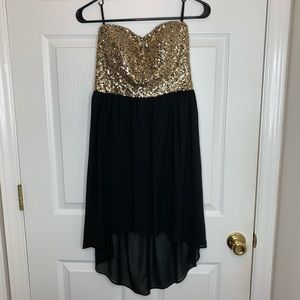 Sequin High-low dress